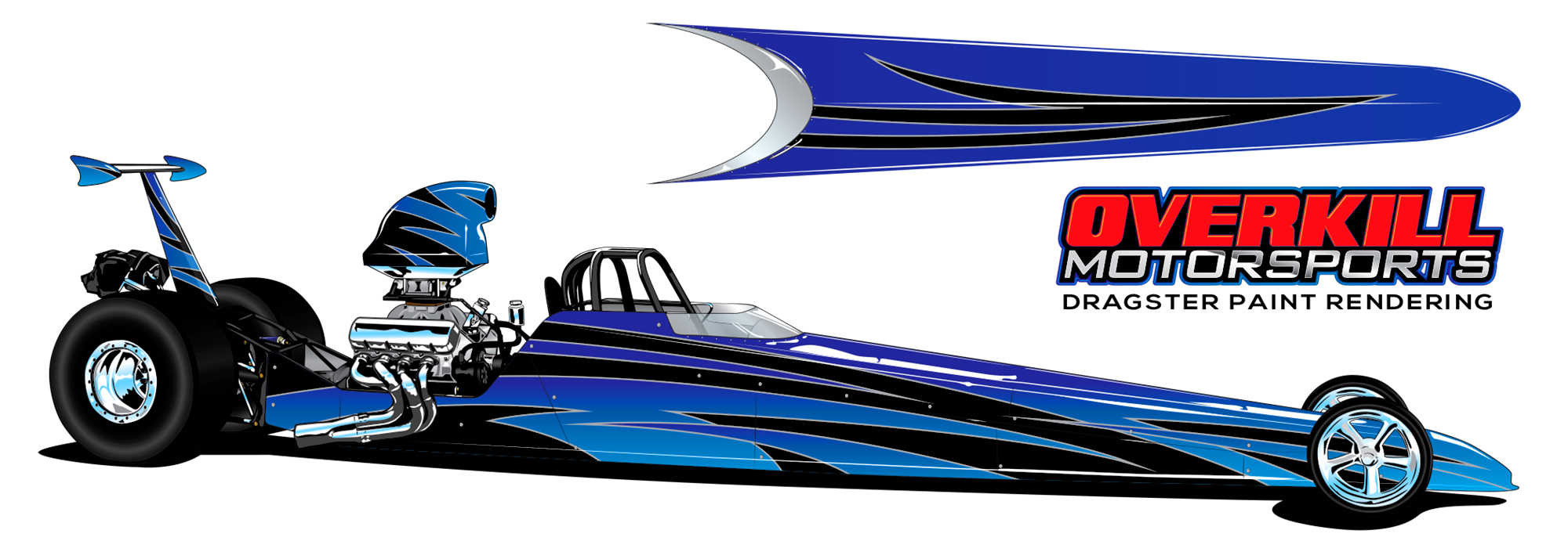 Drag race car paint schemes - Print