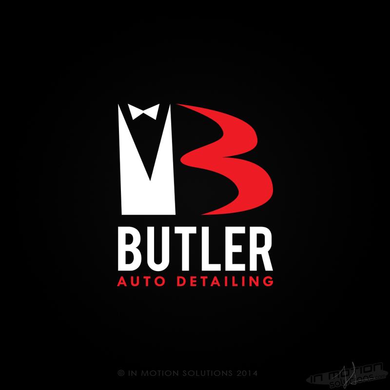 Butler Auto Detailing Logo Design In Motion Solutionsin