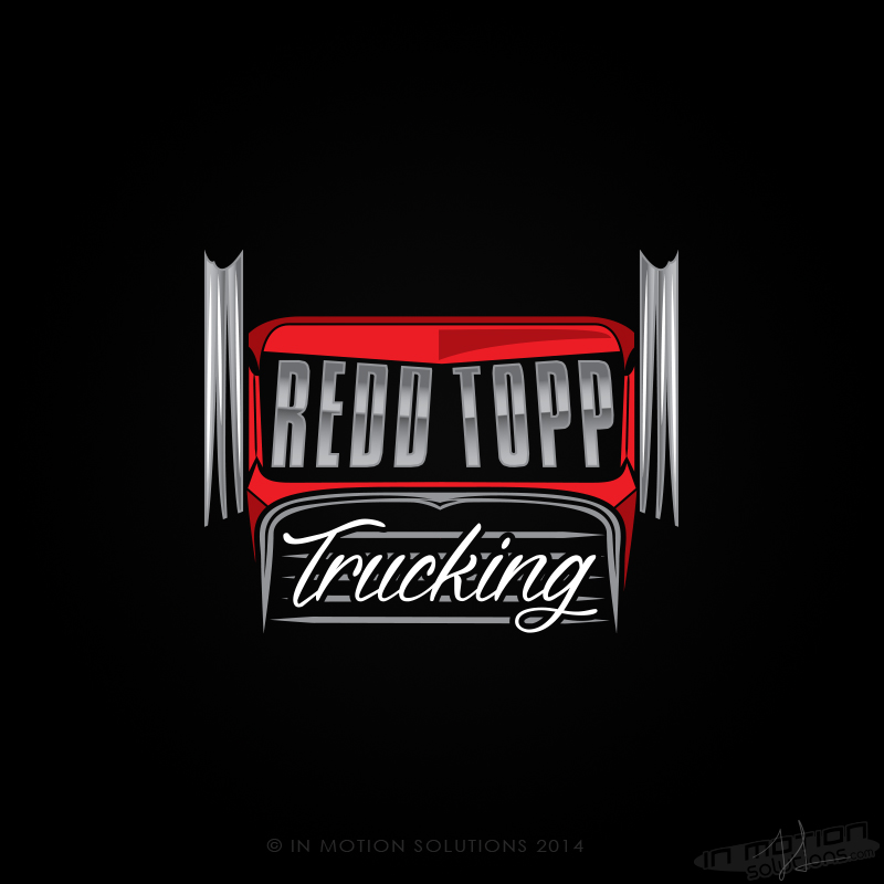 Redd Topp Trucking Company Logo Design In Motion