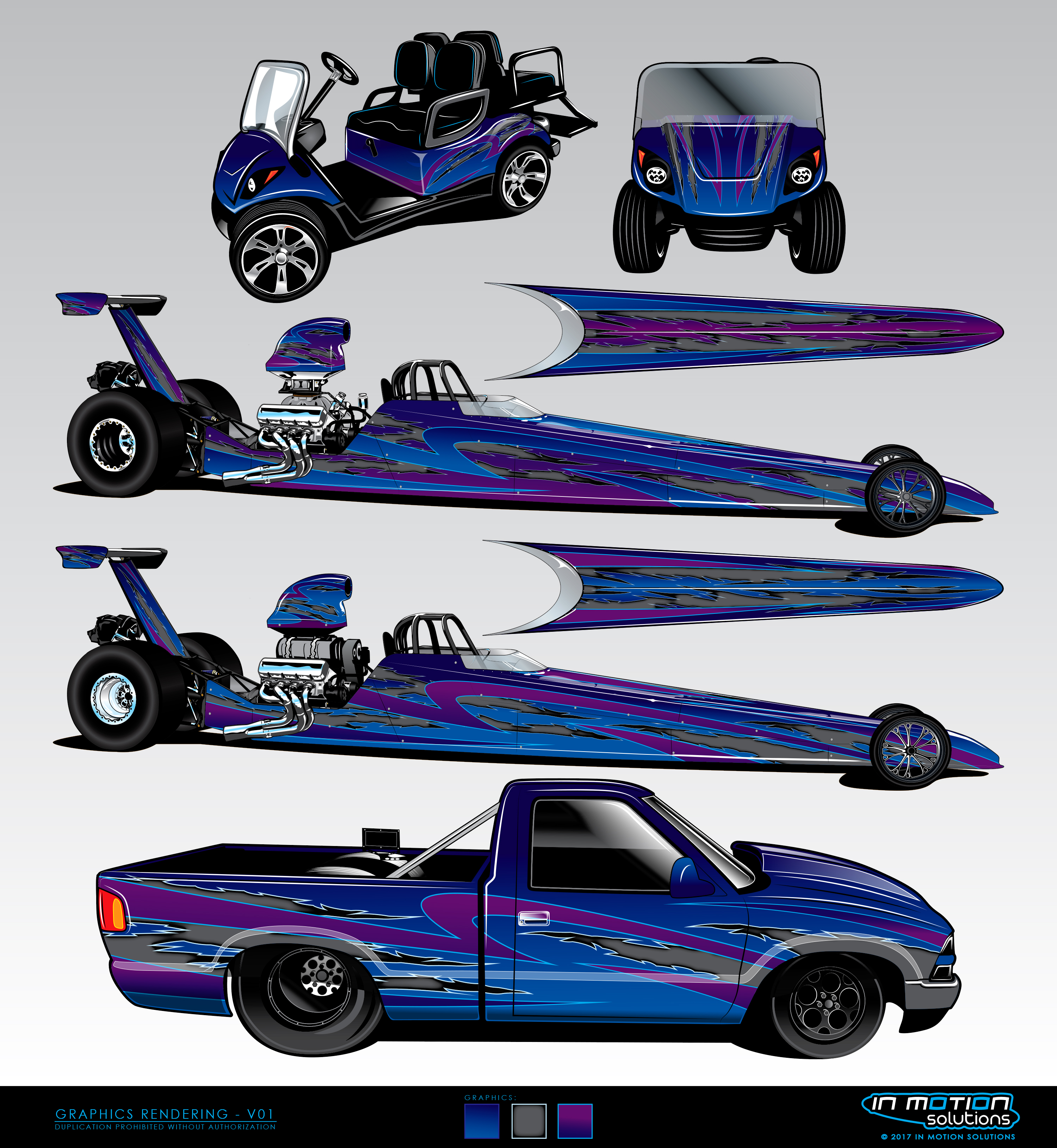Drag Racing Team Paint Scheme Design - In Motion SolutionsIn Motion ...