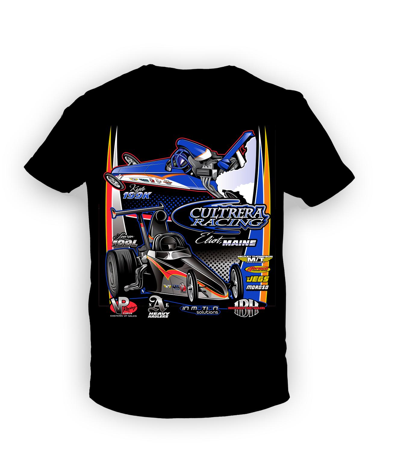 t shirt design cultrera racing nhra top dragster in